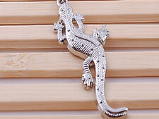 HJ043 Creative Insects Gecko Keychain Pendant Polished Chrome Classic 3D Gift