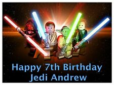 STAR WARS Personalised Edible ICING Party Birthday Cake Decoration Topper Image