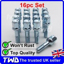16 x ALLOY WHEEL BOLTS FOR MERCEDES BENZ 190 190E (W201) 40MM LONG NUTS [16MB]