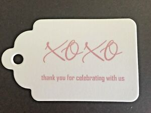 20 Wedding Engagement Bombonierre Gift Thank You Tags  300 GSM Cardstock