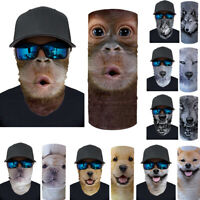 Animals Print Face Balaclava Scarf Neck Tube Fishing Sun Gaiter UV Headwear Band
