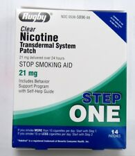 Rugby Nicotine Transdermal System 14 Clear Patches Step 1 (21mg) Exp 10/2021+