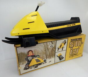 RARE Vintage 1974 Coleco Sno Jet Ski Snow Mobile Toy Sled Kids Childs NMIB