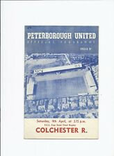 Peterborough United v Colchester Reserves 4 April 1959 ECL Cup Semi Final Replay