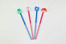 24 Stück Bleistift Happy Day mit Radiergummi verschiedene Farben und Formen