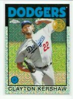 2021 Topps Series 1 CLAYTON KERSHAW 1986 CHROME SILVER REFRACTOR Dodgers