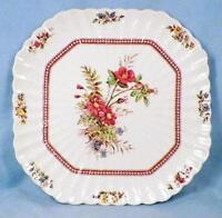 Copeland Spode Rosalie Salad Plate Square Chelsea Wicker Flowers 51878