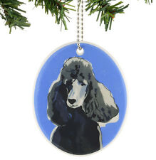 # Go Dog by Paper Russell Hanging Ornament Black Poodle Puppy Stoneware Holiday