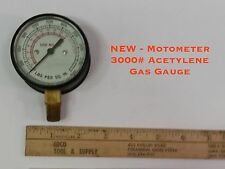 "NEW - Motometer 3000# Acetylene Gas Gauge 2 1/2"" Glass Face 1/4""NPT Bottom Mount"