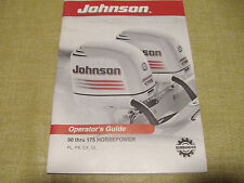 OMC BRP Johnson Outboard Operator's Guide 90 thru 175 HP PL PX CX GL VGC