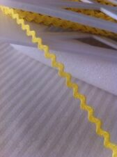 Mini Ric Rac Braid 5mm x 2 Meters Canary Yellow Made in USA