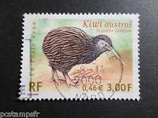 FRANCE 2000, timbre 3360, KIWI AUSTRAL, OISEAU, BIRD OF PREY, RAPACE, oblitéré
