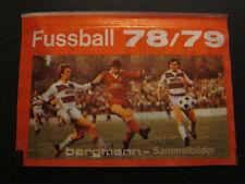 """Ungeöffnete Bergmann Sammelbilder Tüte """"Fußball 78 / 79"""""""
