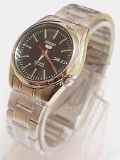 SNKL45K1 SEIKO 5 Stainless Steel Band Automatic Men's Black Watch Brand New !