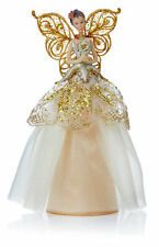 Champagne Gold Angel Fairy Christmas Tree Top Topper Decoration Vintage Style