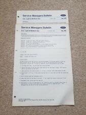 Genuine Ford Granada, Escort, Service Managers Bulletin x 2 - 1982