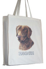 Chesapeake Bay Retriever Dog H Shopping Tote Bag Long Handles Perfect Gift