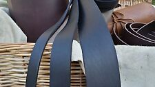 127cm LONG OIL TANNED BLACK 3.8mm THICK REAL LEATHER STRAP VARIOUS WIDTH CowHide