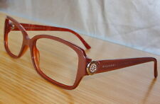 N.Mint BVLGARI 4008-B 829 Pink/chrome/Rhinestones Eyeglasses frames 53mm lens+C.