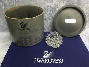 Swarovski Large Hedgehog  7630070000 / 013288. Retired 1996. MIB