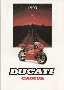 Ducati Cagiva Supermono 125-904 cc Gesamtprogramm Originalprospekt brochure 1993