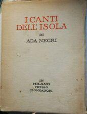 I canti dell'isola - Ada Negri - 1924 - Mondadori - lo