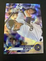 2020 Topps Chrome Prism Refractor Christian Yelich Milwaukee Brewers 138