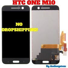 GLS DISPLAY LCD+ TOUCH SCREEN PER HTC ONE M10 NERO VETRO ASSEMBLATO RICAMBIO