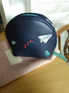 Radley coin purse, new with dust bag and box. Navy with jade accents