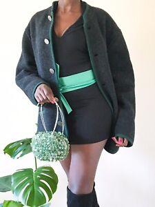 Giesswein Walkwaren designer Austrian Cardigan coat UK size XL 16 black winter