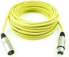 10m cables del micrófono 3 pol XLR amarillo Adam Hall micrófono DMX cable Neutrik compatible