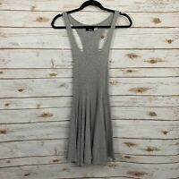 BDG Urban Outfitters Gray Racerback Sleeveless Fit And Flare Skater Dress Small