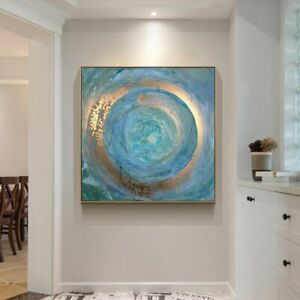 Abstract Blue Painting Oil Painting on Canvas Scandinavian Posters and Prints
