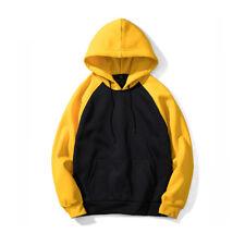 Plain Mens Warm Hoodie Jacket Sweatshirt Pullover Coats Outwear Hooded Top S-2XL