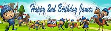 Personalized Mike the Knight Birthday Poster Name Painting Banner - Glossy Hi-R