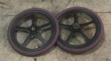 "Black O.G.K Hutch Style 20"" Mags/wheels/Freewheel/tires Old School Freestyle BMX"