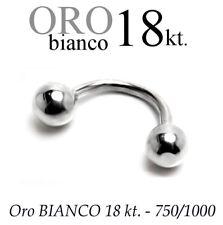 Piercing body BANANA CORPO CIGLIO SOPRACCIGLIO TRAGO orecchio ORO 18kt. GOLD