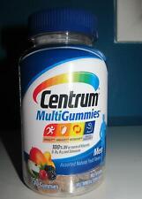 Centrum Men Vitamin D B A Multi Gummies LOT 2X70=140 Supplement Fruit Chews 7/21