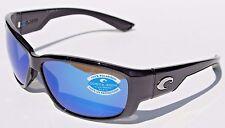 COSTA DEL MAR Luke POLARIZED Sunglasses Black/Blue Mirror 400G NEW $199