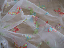 """LIBERTY CURTAIN FABRIC DESIGN """"Flutter By"""" 10.5 METRES SHEER VOILE (1050 CM)"""