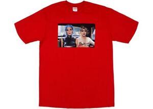 Supreme Nan Goldin Misty Jimmy Paulette Tee logo Red Sz M ! box cdg motion kaws