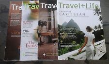 LOT OF 4 TRAVEL + LIFE MAGAZINES CARIBBEAN/FRANCE/TRANSATLANTIC/SOUTH AFRICA