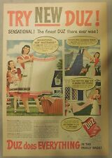 DUZ Detergent Ad: Try New Duz !: DUZ Ad from 1940's