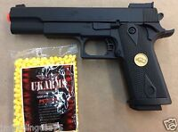 AIRSOFT GUN PISTOL WITH FREE 1000 BB'S PELLETS