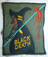 The Grim Reapers - Patch - BLACK DEATH - US 23rd INFANTRY - Vietnam War - 0432