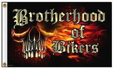 DELUXE BIKER FLAG BROTHERHOOD OF BIKERS skull FL395 3x5 bikers item skulls flags