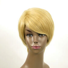 perruque afro femme 100% cheveux naturel courte blonde ref WHIT 01/22
