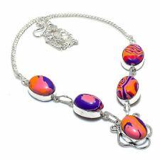 "Gift Jewelry Necklace 18"" N242 Rainbow Calsilica Gemstone Ethnic Handmade"
