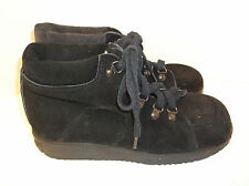 Vintage 70's~KINNEY~Great American Shoe Store~GASS~Black SUEDE~Ankle Boots~7 M
