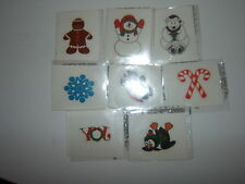 8-Holiday Glitter Temporary  Tattoos   Stickers Party Favors
